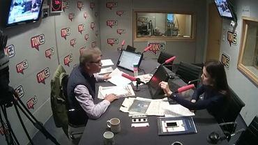 "Jacek Żakowski i dr Joanna Banasiuk w ""Poranku Radia TOK FM"""