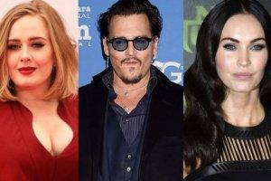 Adele, Johnny Depp, Megan Fox