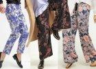 Materiałowe spodnie we wzory