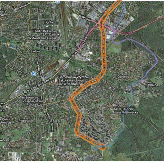 Proponuję alternatywny przebieg trasy - równolegle do planowanej drogi południowej, łączącej ulicę Rzepakową ze szpitalem na Ochojcu, dalej skrajem lasu do planowanej pętli pomiędzy ulicami Radockiego i Bażantową