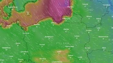 Niż znad Skandynawii sprowadzi silny wiatr nad północną Polskę