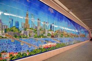 Metro w Warszawie: na stacji Politechnika powstał nietypowy obraz