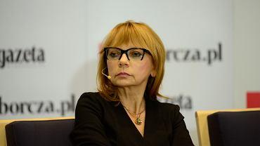 Wybory Parlamentarne 2015. Profesor Ewa Marciniak podczas debaty w redakcji Gazety Wyborczej