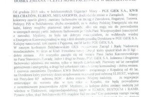 """W kopalni i elektrowni w Be�chatowie bunt przeciw """"dobrej zmianie"""""""