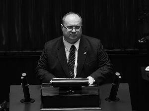 Poseł Rafał Wójcikowski podczas 11. posiedzenia Sejmu VIII kadencji