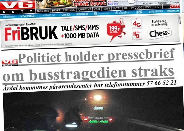 M�czyzna porwa� autobus w Norwegii. Zabi� kierowc� i 2 pasa�er�w