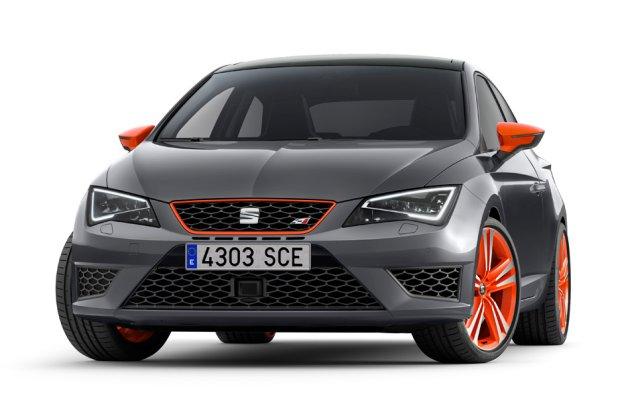 Seat Leon Cupra 280 Orange, Black i White Line | Wyr�nij si�