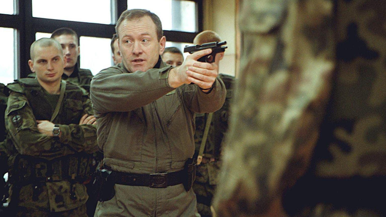 Krzysztof Przepiórka podczas szkoleń w 2001 roku