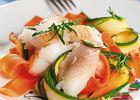Halibut z warzywami