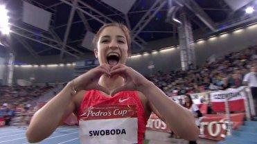 19-letnia Polka robi furor�. Zobacz jej kolejny fantastyczny bieg. Odsadzi�a rywalki niczym Usain Bolt!