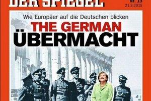 """""""Der Spiegel"""" prowokuje ok�adk�: Merkel w�r�d oficer�w Wehrmachtu na Akropolu"""