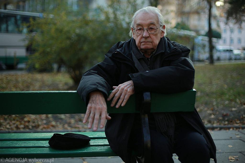 Andrzej Wajda na planie swojego ostatniego filmu
