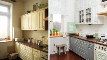Kuchnia przed i po