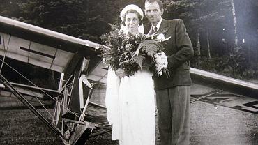 Janina Lewandowska z mężem Mieczysławem