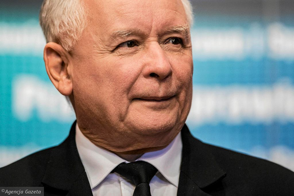 Jarosław Kaczyński, prezes PiS, w Krośnie