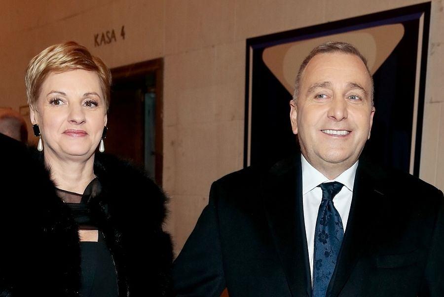 Grzegorz Schetyna z żoną Kaliną