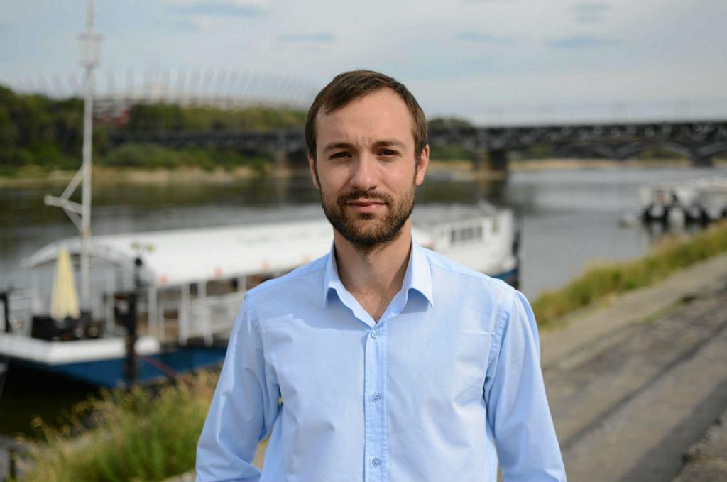 Bulwary Wiślane, na zdjęciu: Marek Tatała.