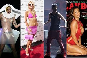 Lady Gaga, Paris Hilton, Justin Bieber, Kim Kardashian