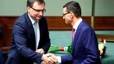 Zbigniew Ziobro i premier Mateusz Morawiecki