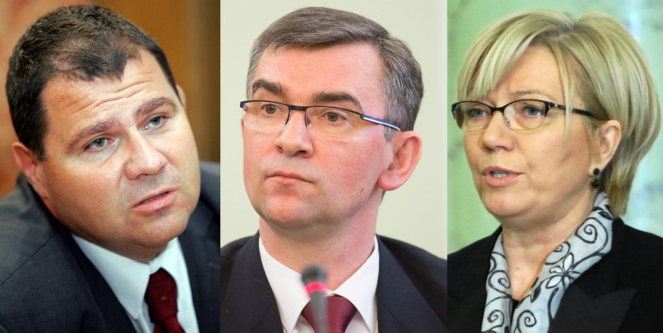 Mariusz Muszyński, Andrzej Przyłębski i Julia Przyłębska