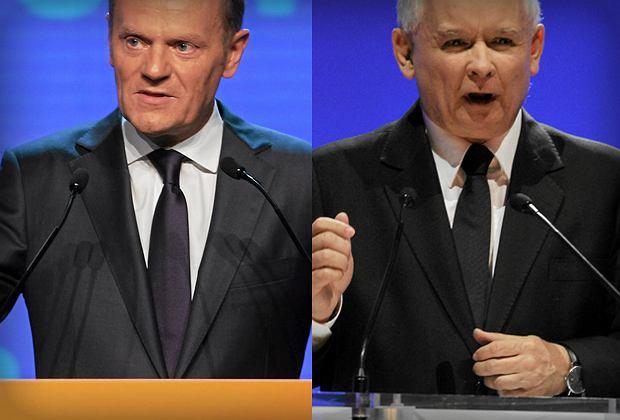 Donald Tusk, Jaros�aw Kaczy�ski