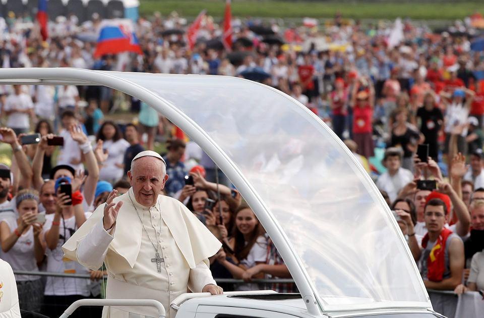 Papież Franciszek w Brzegach podczas ostatniego dnia Światowych Dni Młodzieży