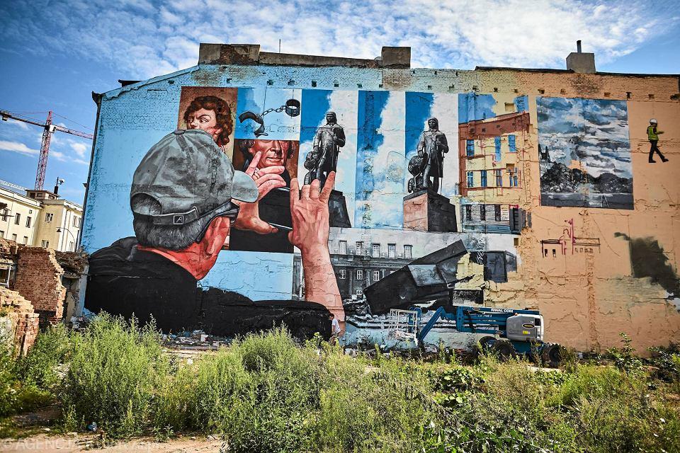 Murale W Lodzi Kosciuszko I Jefferson W Centrum Zdjecia Zdjecie