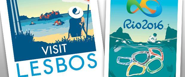 """Piękne plakaty """"turystycznych rajów"""", które przerażają, gdy przyjrzeć im się z bliska"""