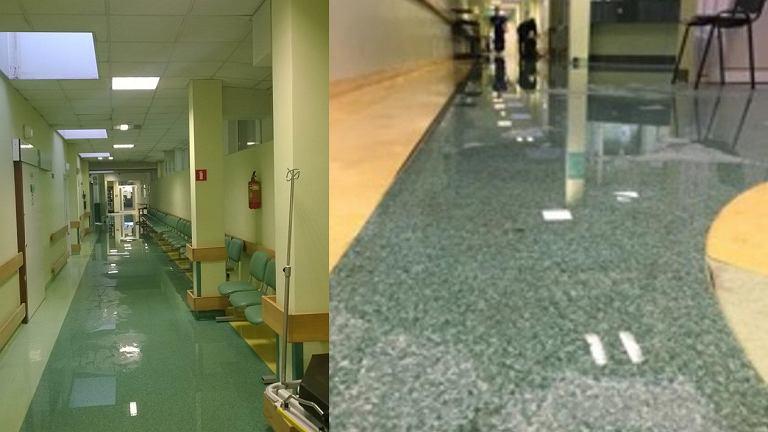 Zalany oddział ratunkowy w łódzkim szpitalu