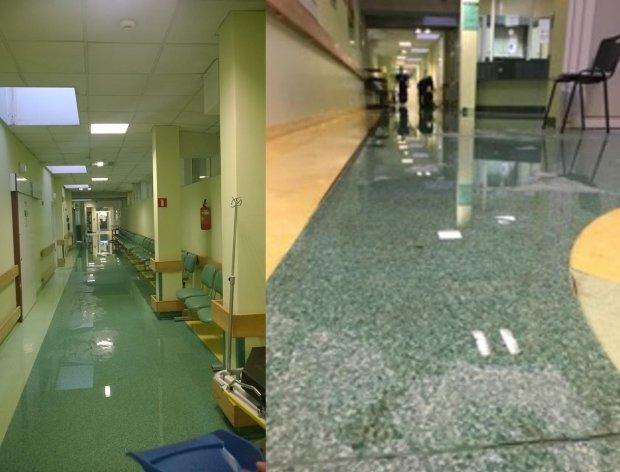 Zalany oddzia� ratunkowy w ��dzkim szpitalu