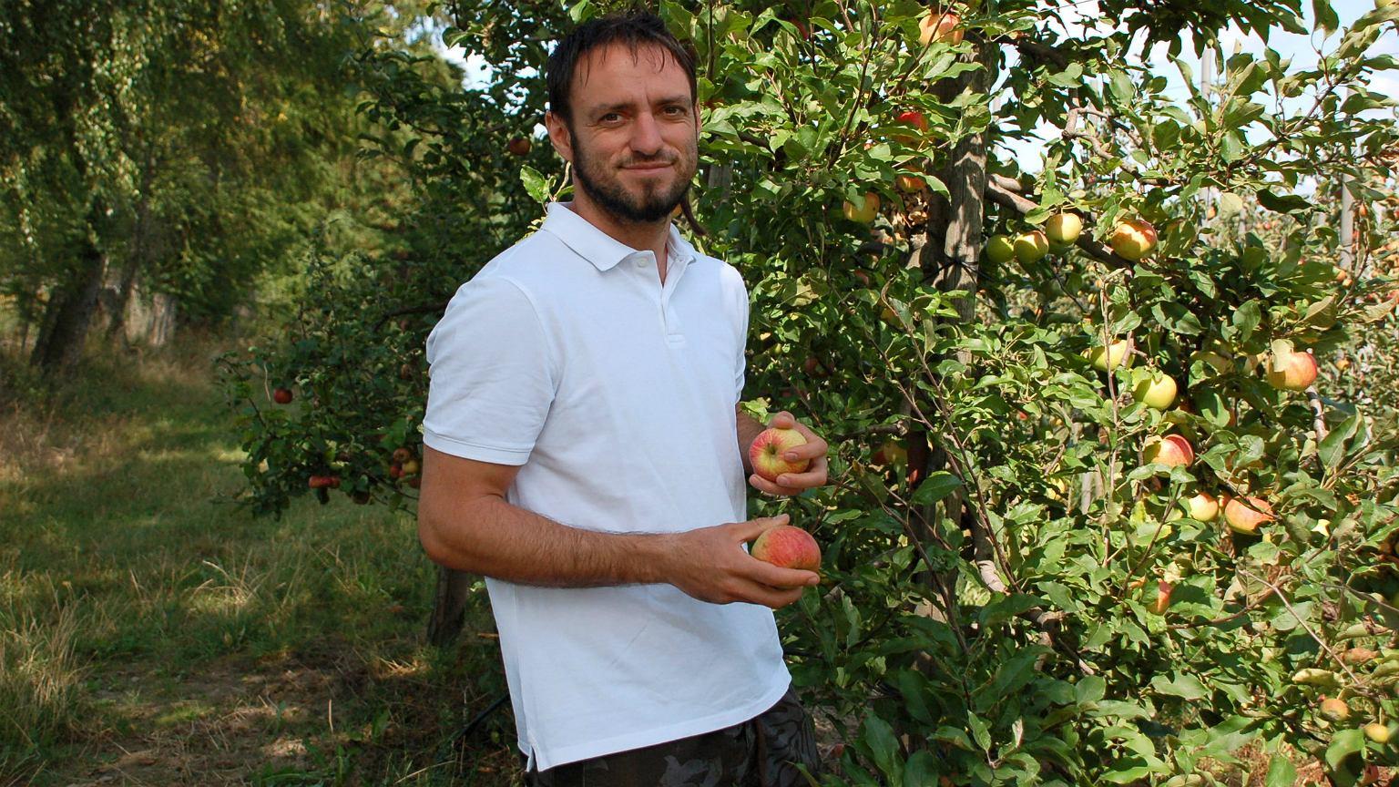 Hubert Filipiak, sadownik z Rembertowa pod Warszawą