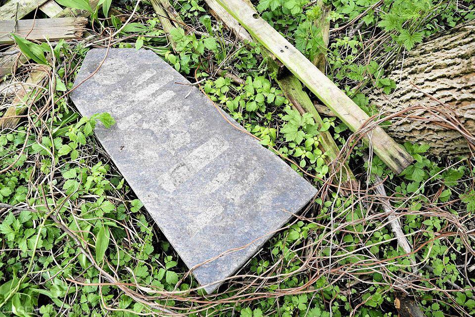 Odnalezienie dwóch macew i postumentów na terenie opuszczonej posesji przy ul. Bema