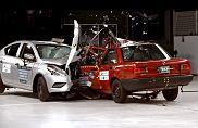 Test zderzeniowy Nissanów