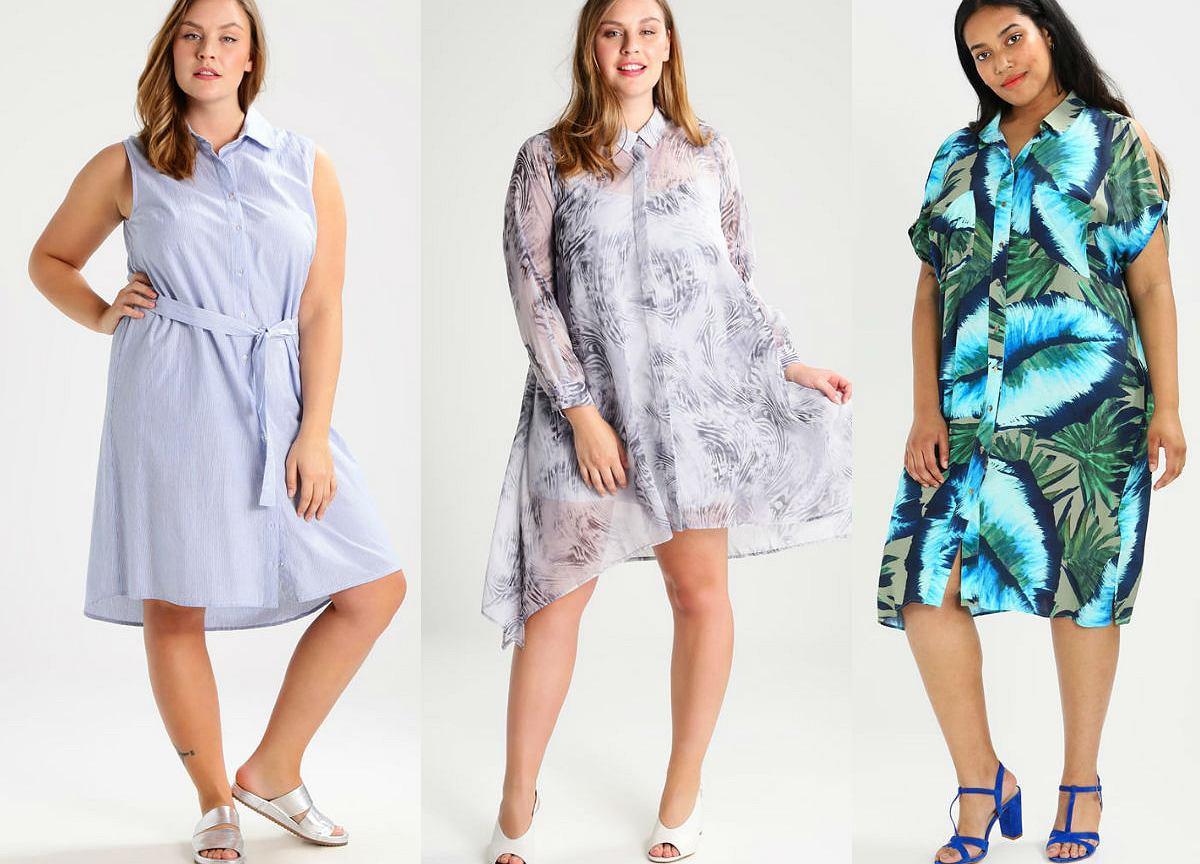 Kolaż Avanti24 / Sukienki koszulowe na lato / Materiały partnera