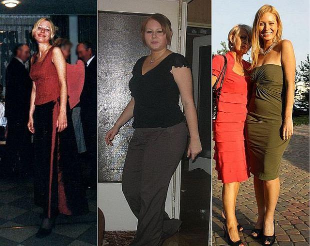 Olga w trzech fazach swojej wagi - zanim przyty�a, w apogeum wagi i w obecnej formie.