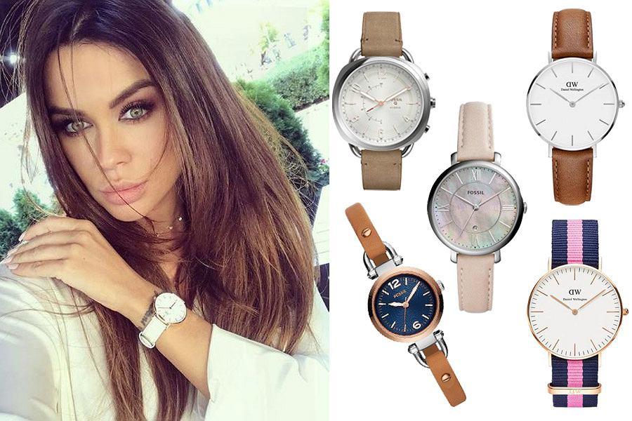 Kolaż, zegarek na pasku/Materiały partnera