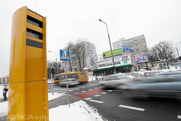 Fotoradar w Warszawie przy Al. Niepodleg�o�ci i ul. Batorego