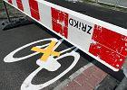 Ścieżka gotowa, ale zamknięta. Mandaty dla rowerzystów