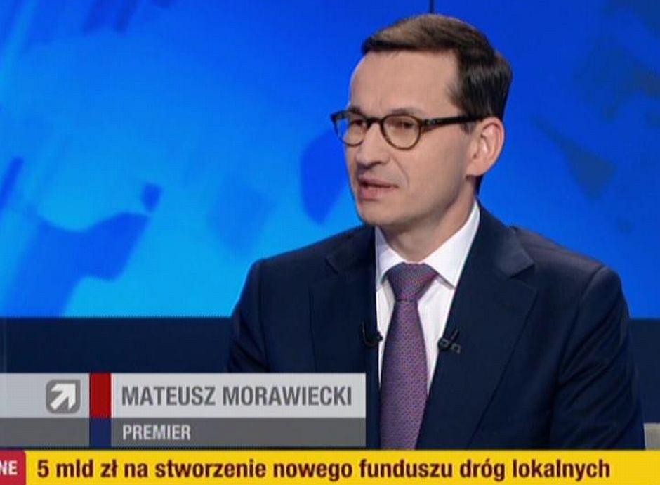 Mateusz Morawiecki w Polsat News