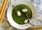 Zupa z rukoli i koziego sera