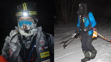 Marcin Kiełbasiński po przebiegnięciu 150 kilometrów.