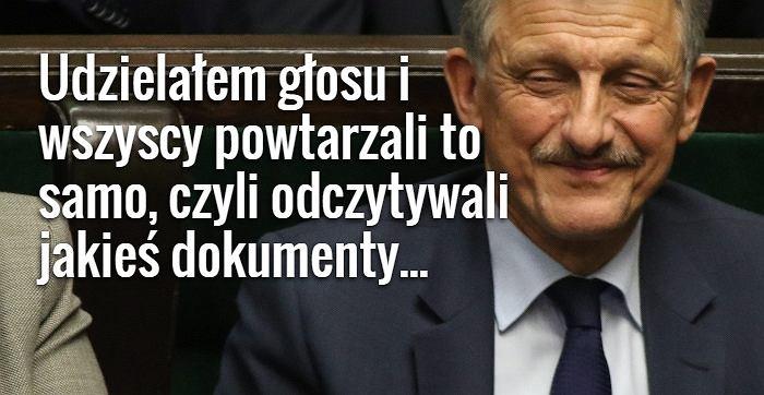 Poseł PiS Stanisław Piotrowicz