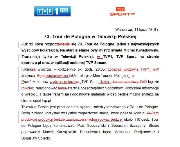 Komunikat TVP