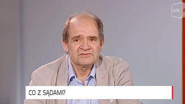 Radny PiS Janusz Kapuściński w studiu telewizji WTK