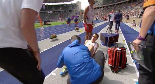 Karol Hoffman doznał kontuzji podczas lekkoatletycznych ME w Berlinie