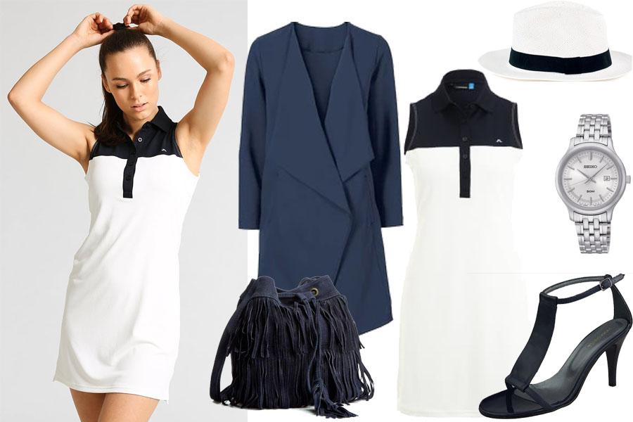 15b1b537dc Stylizacja z białą sportową sukienką   Kolaż   Materiały partnera