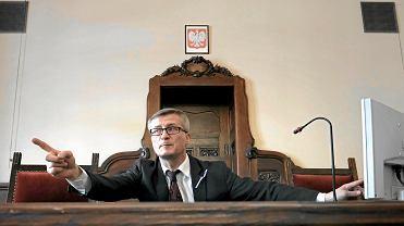 Sędzia Marek Jaskulski podczas Dnia Wymiaru Sprawiedliwości w maju 2017 r.