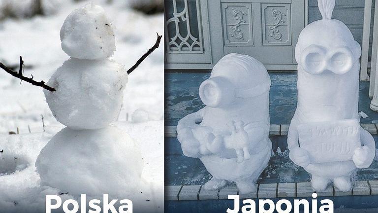 Bałwanki z Japonii to prawdziwe dzieła sztuki.
