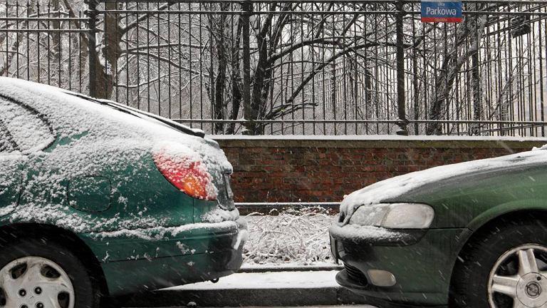 Samochody zaparkowane wzdłuż ul. Parkowej