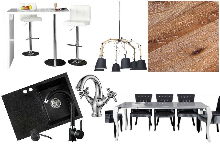 kuchnia, dodatki, mieszkanie, wnętrza